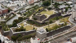 城郭が分かる甲府城 一番高い所が天守台.jpg